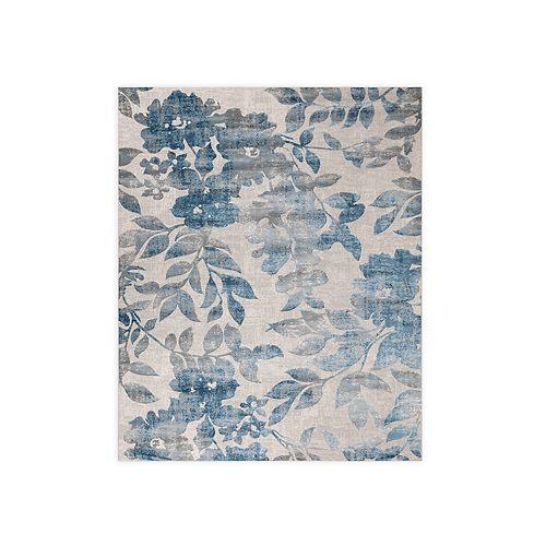 VCNY Home Flora Elegance Grey/Blue Area Rug