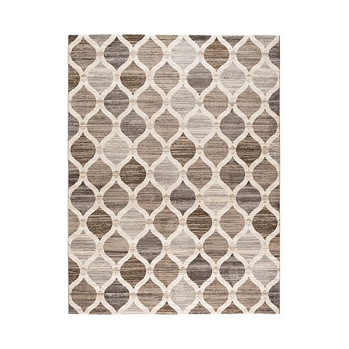 Vcny Home Jude Taupe Microfiber Area Rug