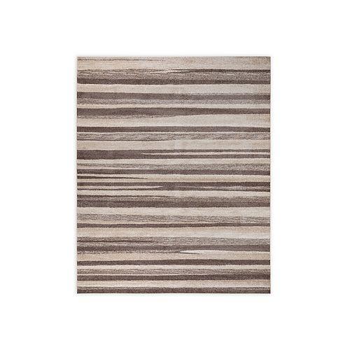 VCNY Home Zaria Taupe Striped Area Rug
