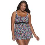 Plus Size Women's A Shore Fit! Spectrum Banded Empire Dress