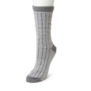 Dearfoams Fair Isle Knit Cabin Slipper Sock