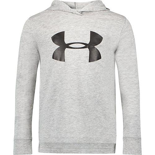 Boys 4-7 Under Armour Big Logo Hooded Long Sleeve Tee