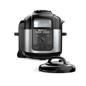 Black//Gray Steamer /& Air w//TenderCrisp Technology Pressure Cooker /& Air Fryer All-in-One 6.5 quart w//dehydrate Ninja OP302 Foodi Cooker