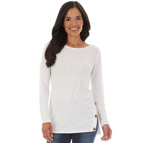 Women's Apt. 9® Fuzzy Jersey Tunic