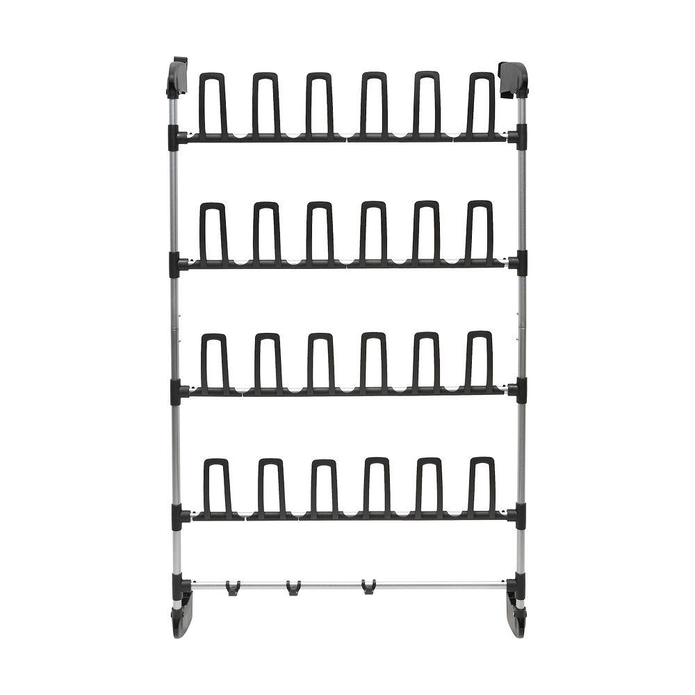 Neu Home Over-the-Door 24-Prong Shoe Rack