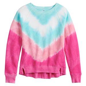Girls 4-20 & Plus Size SO® Raglan Fleece Crewneck Sweatshirt