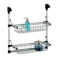 Neu Home 2-Tier Over-the-Door Metal Basket