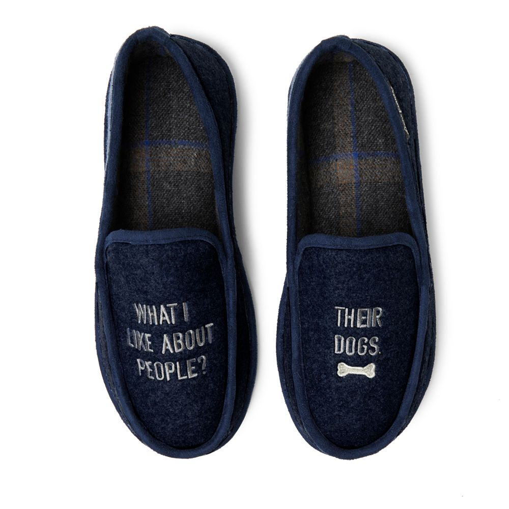 Dearfoams Novelty Felted Micro Wool Moccasin