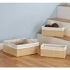 Neu Home 3-pc. Sea Grass Basket Set