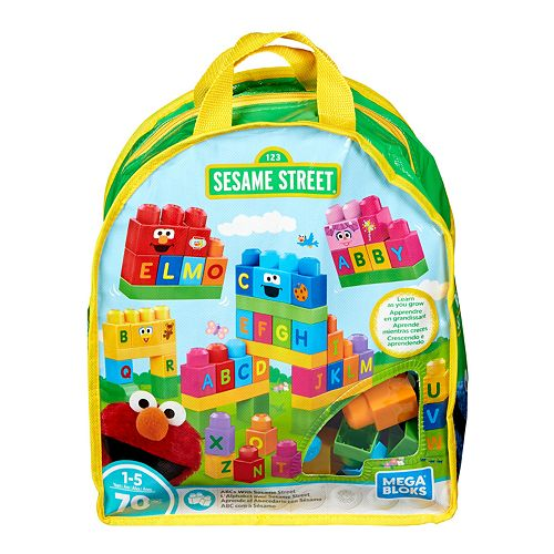 Mega Bloks Sesame Street Let's Build Backpack