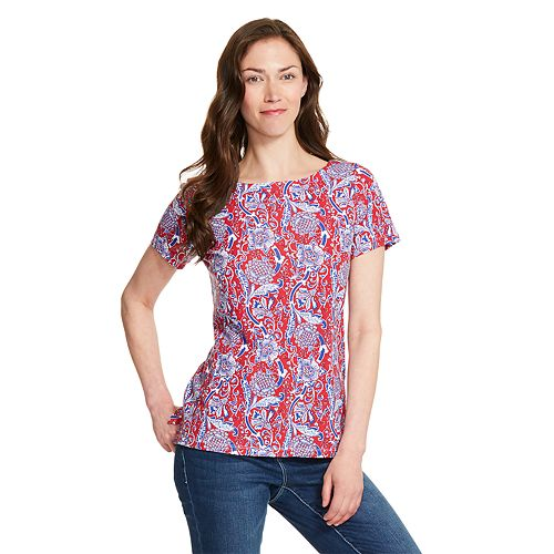 Women's IZOD Print Twist-Back Top