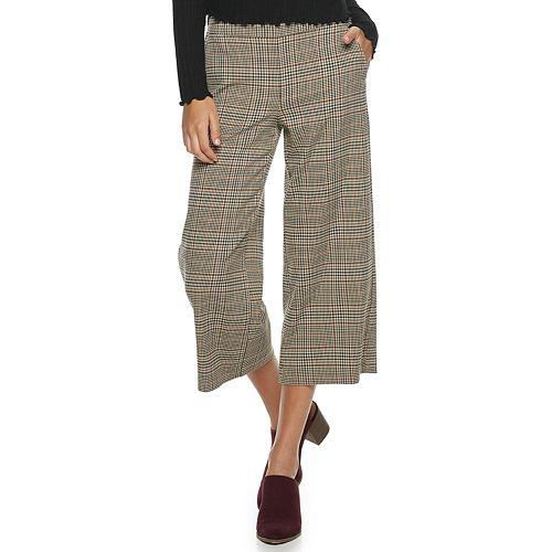 Juniors' Candie's® Cropped Wide Leg Culotte