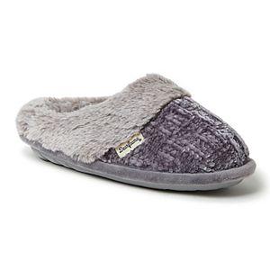 Women's Dearfoams Chenille Knit Clog with Plush Cuff
