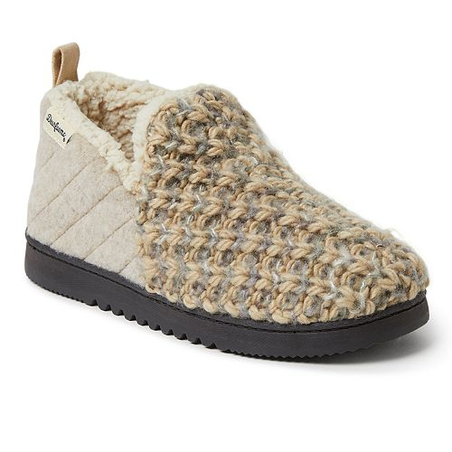 Women's Dearfoams Textured Knit and Microwool Bootie