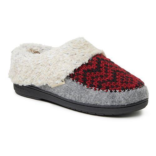 Women's Dearfoams Fairisle Knit and Felted Microwool Clog