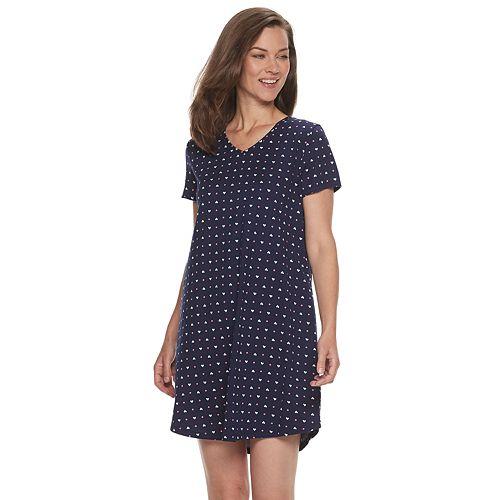 Women's Croft & Barrow® Short Sleeve Sleep Shirt