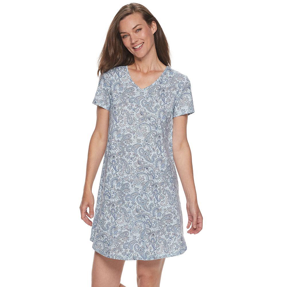 Petite Croft & Barrow® Print Sleepshirt