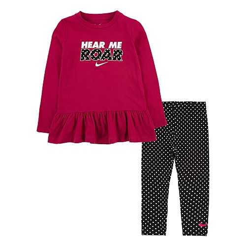 Toddler Girl Nike Peplum Top & Leggings Set