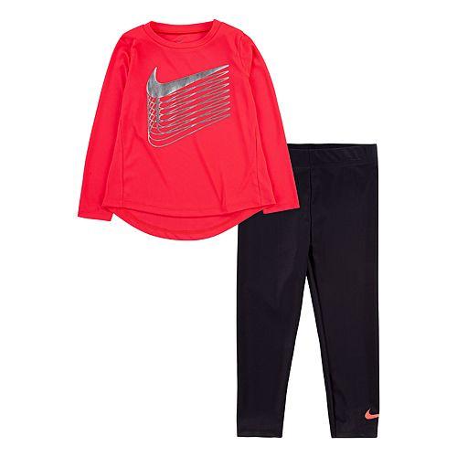 Toddler Girl Nike Dri-FIT Long Sleeve Tunic Top & Leggings Set