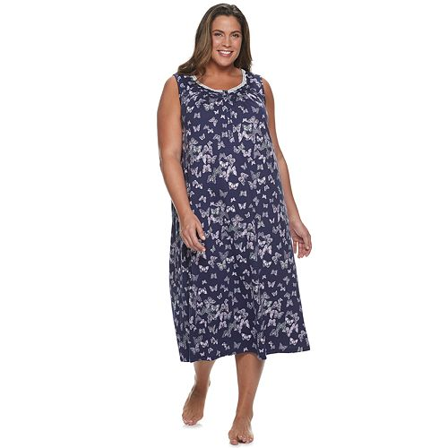 Plus Size Croft & Barrow® Placket Neck Nightgown
