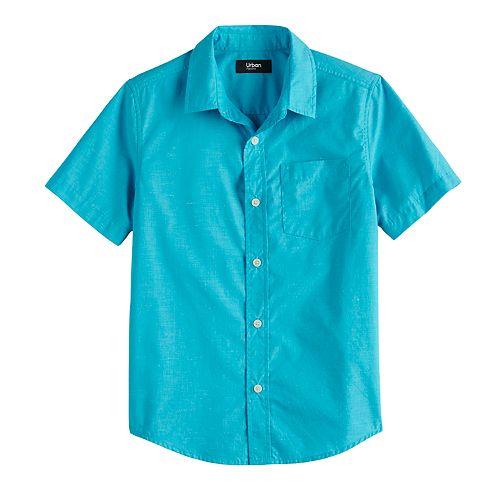 Boys 8-20 Urban Pipeline™ MaxWear Solid Button-Down Shirt