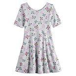 Girls 4-12 Jumping Beans® Elbow Sleeve Princess Seam Dress