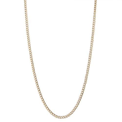 14k Gold Curb Chain Necklace