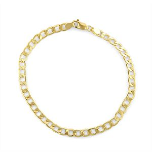 Men's 14k Gold Cuban Curb Chain Bracelet