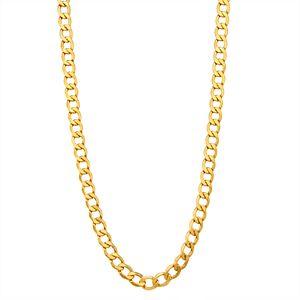 Men's 14k Gold Cuban Curb Chain Necklace