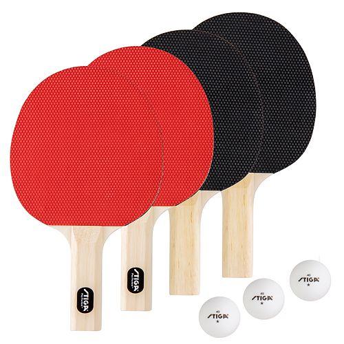 STIGA Classis 4 Player Table Tennis Racket Set