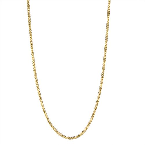 Men's 14k Gold Wheat Chain Necklace