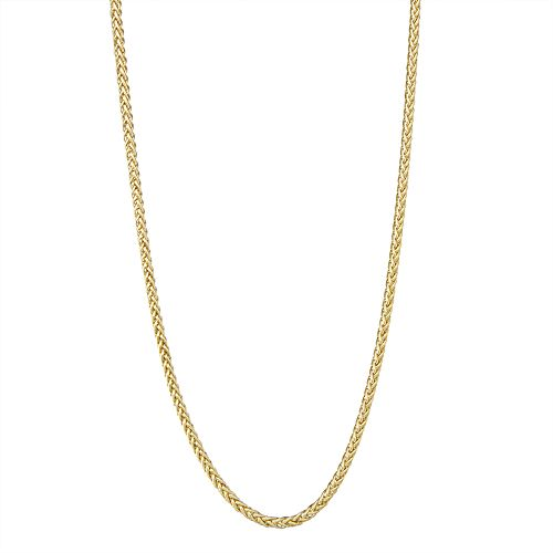 Men's 14k Gold Wheat Chain Necklace