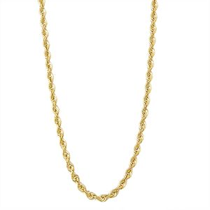 Men's 14k Gold Rope Chain Necklace