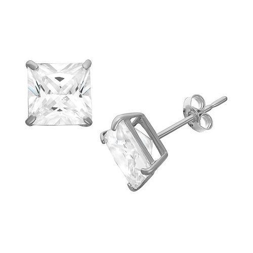 14k Gold Swarovski Zirconia Stud Earrings