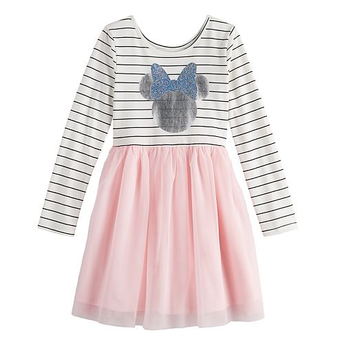 Disney's Minnie Mouse Girls 4-12 Striped Tulle Dress by Jumping Beans®