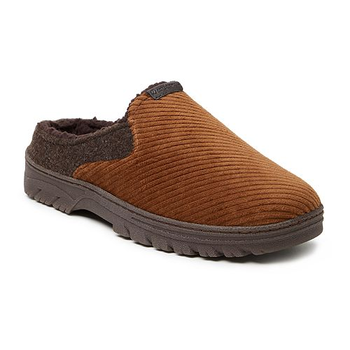 Men's Dearfoams Corduroy and Felted Microwool Clog