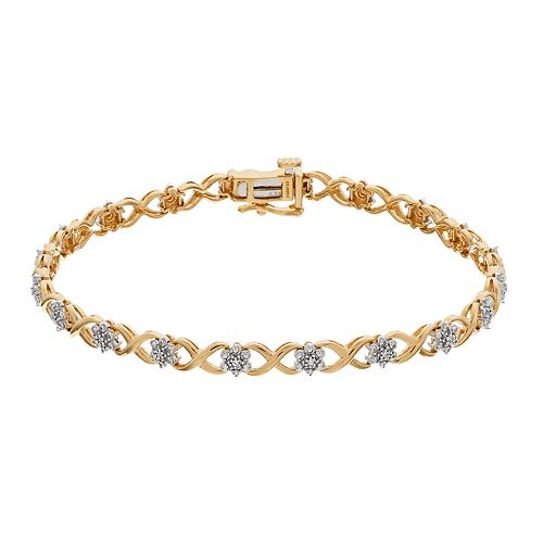 14k Gold Diamond Accent Bracelet