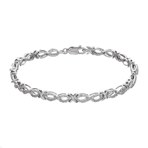 1/4 Carat T.W. Diamond Sterling Silver Bracelet