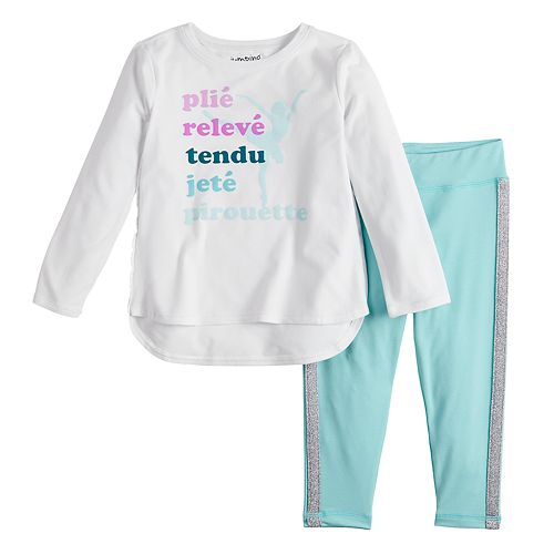 Toddler Girl Jumping Beans® Active Graphic Tunic & Leggings Set