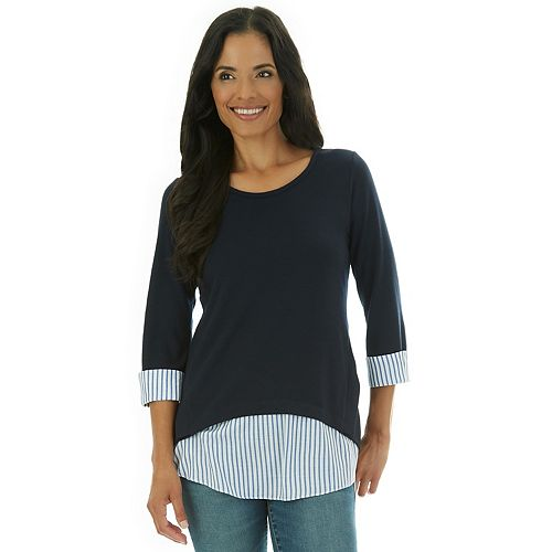 Women's Apt. 9® French Terry Side-Placket Top