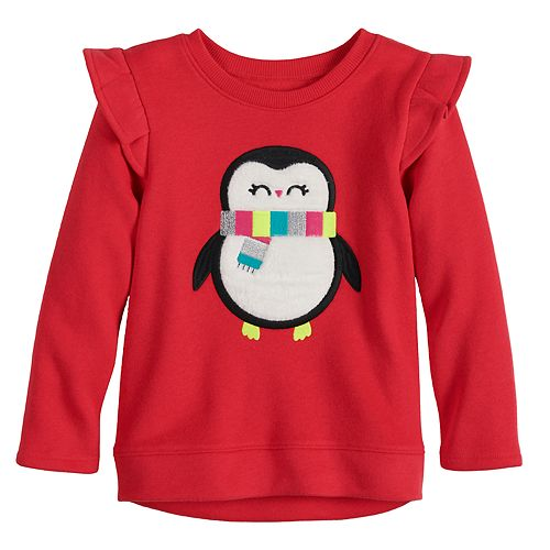Toddler Girl Jumping Beans® Ruffled Fleece Sweatshirt
