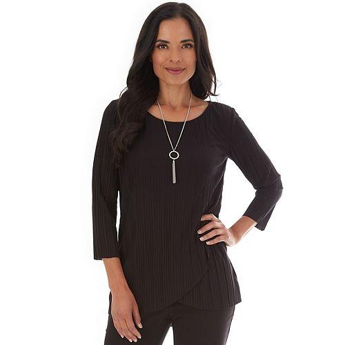 Women's Apt. 9® 3/4 Sleeve Pleated Shirt