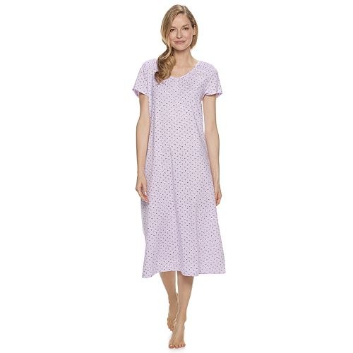 Petite Croft & Barrow® Smocked Long Nightgown