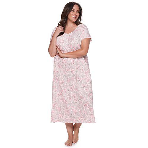Plus Size Croft & Barrow® Smocked Nightgown