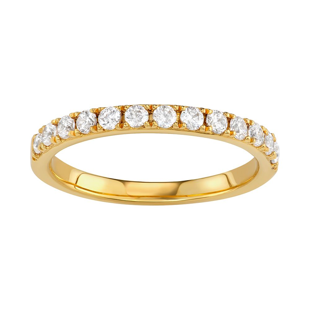 Simply Vera Vera Wang 14k Gold 1/2 Carat T.W. Diamond Wedding Band