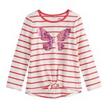 Girls 4-12 SONOMA Goods for Life? Long-Sleeve Tie Front Top