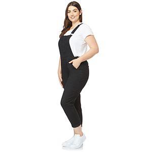 Juniors' Plus Size Insta Stretch WallFlower Overalls