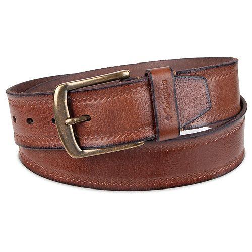 Men's Columbia Leather Casual Belt