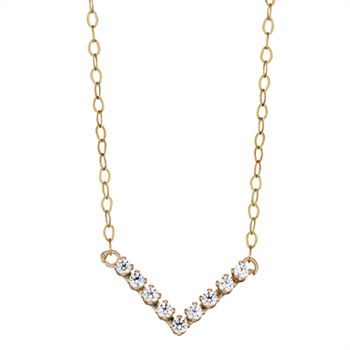 Girls Glitter Ball Pendant Necklace with Swarovski Crystal in 10K Gold