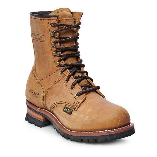AdTec 1421 Men's Water Resistant Logger Work Boots